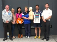 Staff at the Gloucester Street Sports Centre, Dublin, Receiving their new Intelligent Public Access Defibrillator IPAD and Training from EireMed