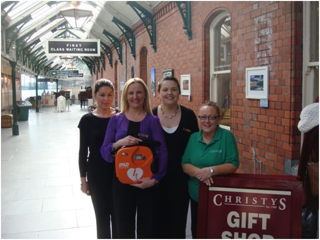 Staff from Cobh Heritage Centre (The Titanic Experience) Receiving their AED and Training from EireMed